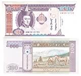 World Banknotes for Collectors - Uncirculated 100 Tugrik note from Mongolia / 2000-2010 design UNC / Genuine paper money