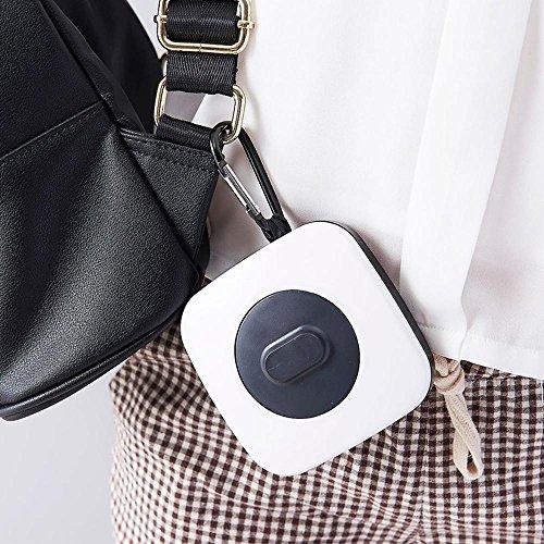 AOLVO wiederverwendbar Lebensmittels Taschen, 2018New Creative faltbar verstellbar tragbar Shopping Aufbewahrung Tasche Fashion Frauen Rolle bis Handtasche Markt, Gespeichert in einer palm-sized quad Weiß