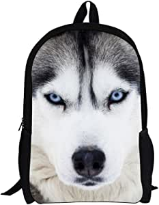 FUIBENG Cool Wolf Printed Vintage Teens Laptop Backpack for Boys Girls School Bookbag Durable Outdoor Daypack