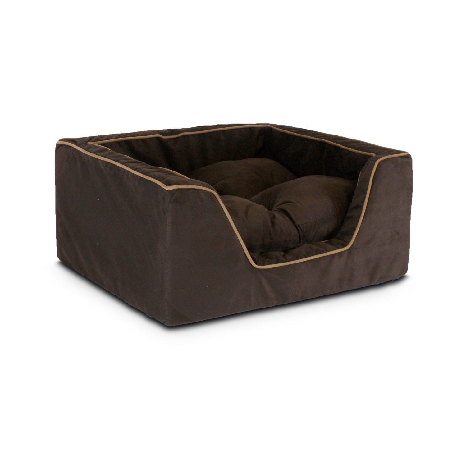 X-Large Snoozer 21493 X-Large Luxury Square Pet Bed, Hot Fudge Cafe