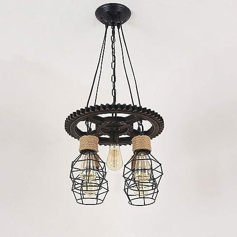 Lámpara Retro Lámpara de araña industrial nostálgica Lámpara ...