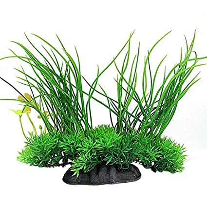 LAAT Planta de Resina de Acuario Plantas para Acuarios Plantas Artificiales Decoración de la Planta -