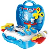 NUOLUX Doctor Play Set Kids Medical Kit in Suitcase Kids Pretend Play Toys