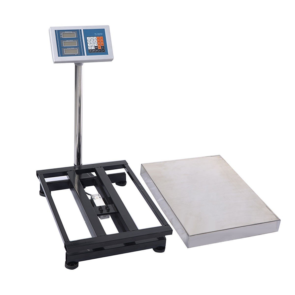 Digital Floor Platform Scale Weight Computing 660LBS Food Industry Shipping Postal Office Mailing Pet Weighing Indoor Outdoor Use Reinforced Stainless Steel by HomeProWholesale