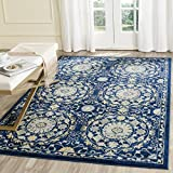 Safavieh Evoke Collection EVK252A Navy and Ivory Area Rug (9′ x 12′)