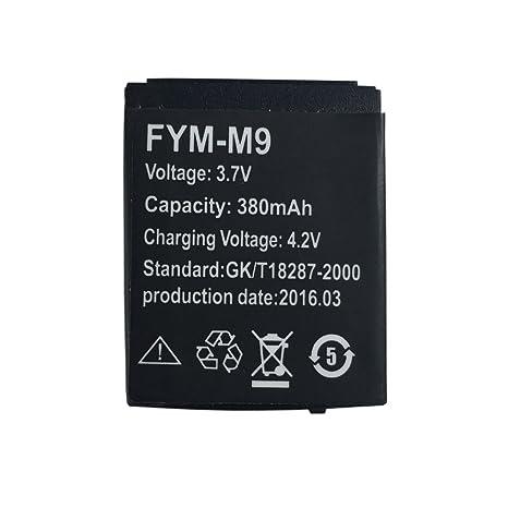 Batterie au lithium rechargeable de montre intelligente LQ-S1 avec la capacité 380MAH: Amazon.fr: Sports et Loisirs