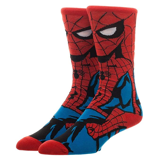 7f3b5318b Image Unavailable. Image not available for. Color  Spiderman Crew Socks  Marvel ...