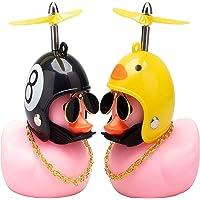 Leuke Rubberen Eend Speelgoed Auto Ornamenten Roze Eend Auto Dashboard Decoraties Instellen Met Propellers Helm…
