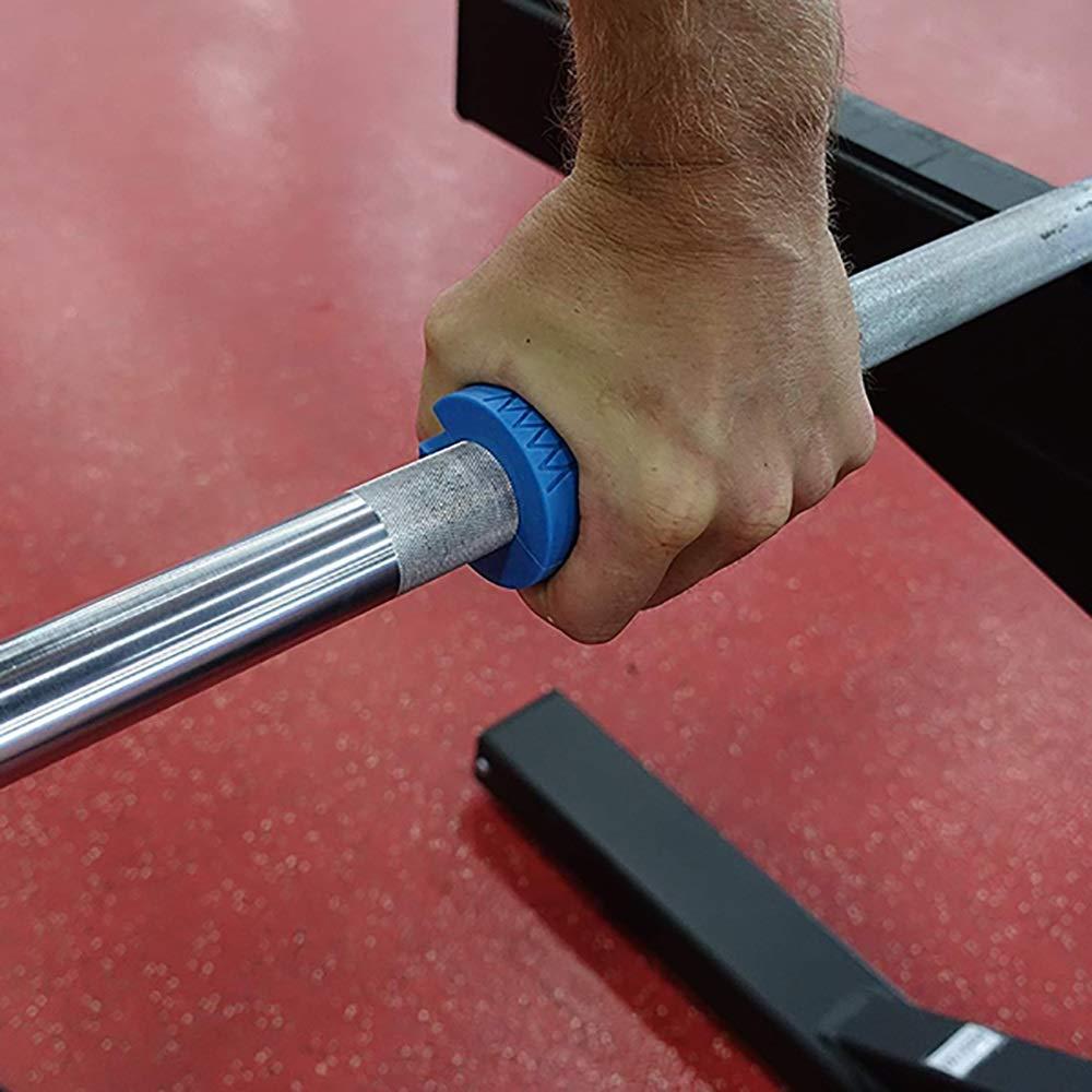 Yiqiane Sportliches Zubeh/ör 2 St/ück Barbell Fat Grips rutschfeste Silikon-Dickfett-Bargriffe f/ür Barbell Hanteln f/ür Gewichtheben Training und Muskelaufbau blau for Outdoors