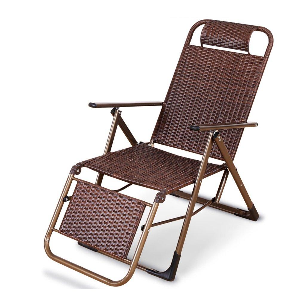 夏の麻雀椅子ランチブレークチェアバルコニー籐の椅子屋外折りたたみラウンジチェアレジャーチェア B07D2WXYHZ コーヒーカラー こ゜ひ゜から゜ コーヒーカラー こ゜ひ゜から゜