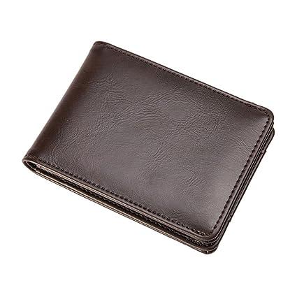 dc109ea06393 Amazon.com  LEKCNSK Short Wallets For Men Pu Leather Wallet Men Coin Pocket  Card Holder Purse Mini Small Wallet as show1  Home   Kitchen