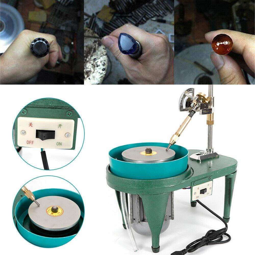 TFCFL 110V Gem Faceting Machine Jade Stone Angle Machine Jewelry Polisher Flat Grinder US Stock