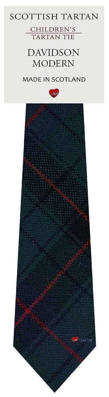 Boys Clan Tie All Wool Woven in Scotland Davidson Modern Tartan I Luv Ltd
