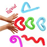Pop Multi-Color Tubes (Toobs) Sensory Toy - 4 Pack
