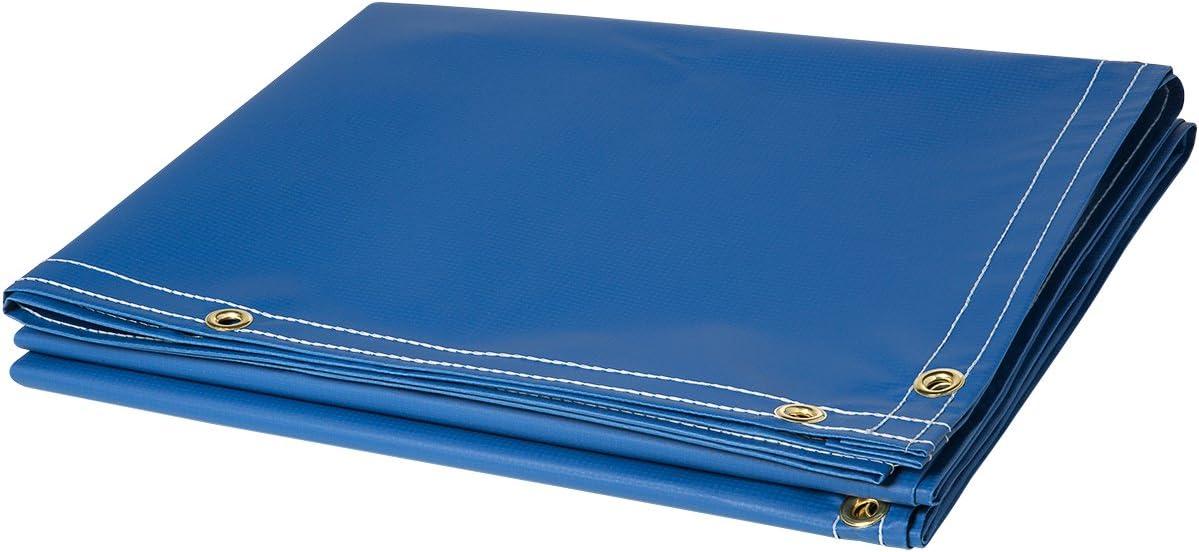 Steiner 335-6X10 13-Ounce Flame Retardant Opaque Vinyl Laminated Polyester Welding Curtain 6 x 10 Blue