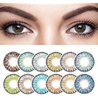 TAOTAOSJT Two Pieces 3Tone Star Series Colored Eye Annual Contact (Blue)