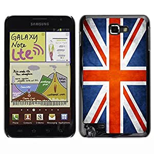 Shell-Star ( National Flag Series-Great Britain UK ) Snap On Hard Protective Case For Galaxy Note / i717 / T879 / N7000 / i9220