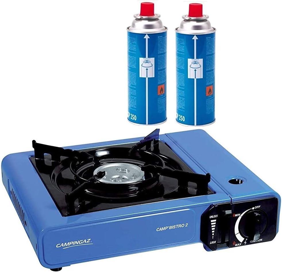 Campingaz Bistro 2 - Hornillo de mesa con 2 cartuchos de gas ...