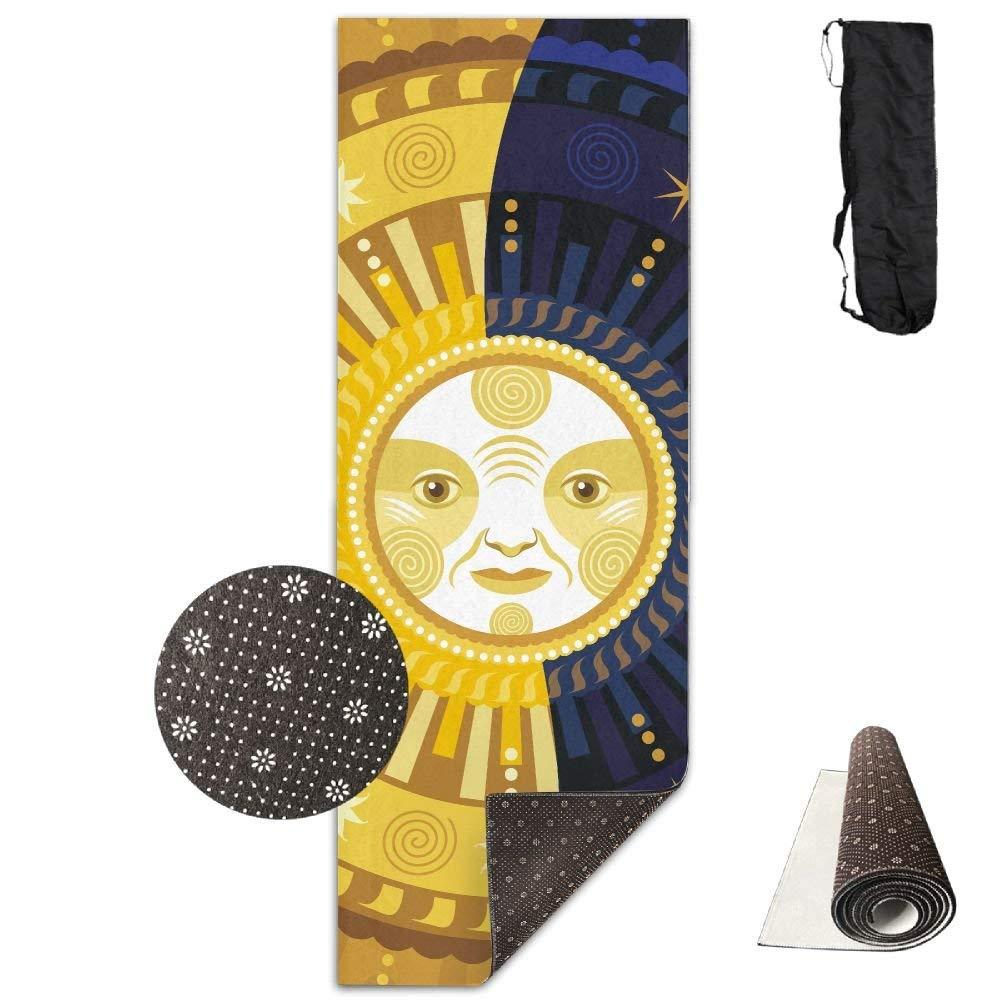Decorative Illustration Sun Deluxe,Yoga Mat Aerobic Exercise Pilates Anti-slip Gymnastics Mats by HOTSELL-Makemoney.forever