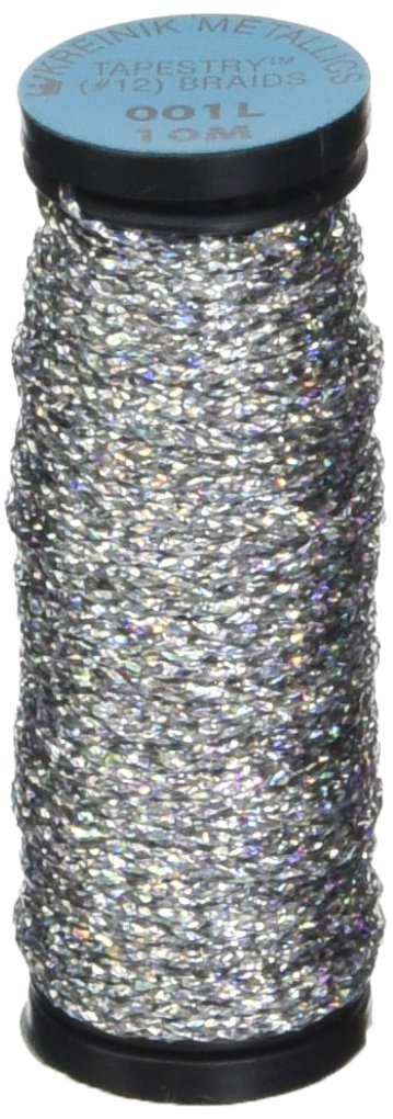 Kreinik No.12 Metallic 10m Tapestry Craft Braid, 11-Yard, Black Notions - In Network T-005