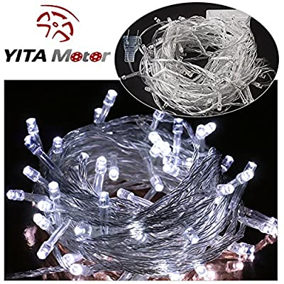 YITAMOTOR 1x New 10M 32.80' 100 Waterproof LED Starry Fairy String White Light For Xmas Party Wedding US
