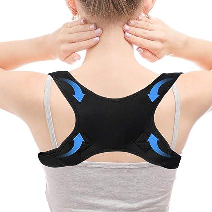 Corrector de postura para eliminar el dolor de espalda superior, corregir la mala posición - cinturón de soporte de columna vertebral invisible
