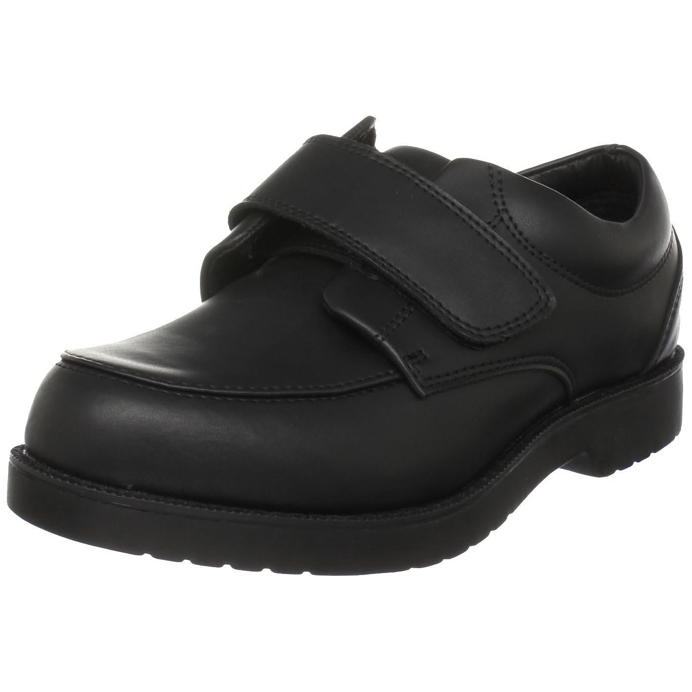 School Issue Junior Moc 2300 H&L Loafer (Toddler/Little Kid/Big Kid),Black Leather,3.5 M US Big Kid