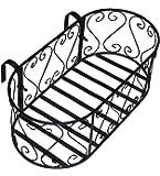 GIG Naturals-Balcony Railing Planter Oval Size (Metal) 50 x 26 x 18 cm