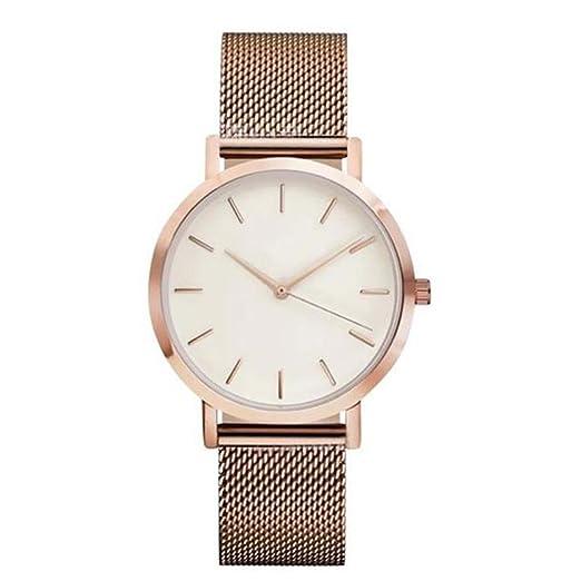 SKY Moda mujer Relojes de la correa Crystal Stainless Steel Analog Quartz Wrist Watch Bracelet (Oro rosa): Amazon.es: Relojes