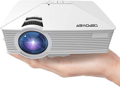 DBPOWER GP15 Mini Proyector Portatil de 1800 Lúmenes, LED Vídeo ...