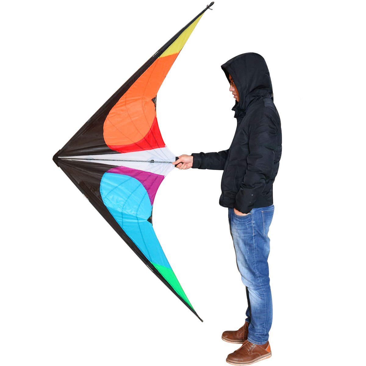 Tresbro Adult Stunt Kites, 71 x 30 Inches Cool Large Delta Power Kite Flying with Kite String for Beach Fun and Outdoor Games by Tresbro