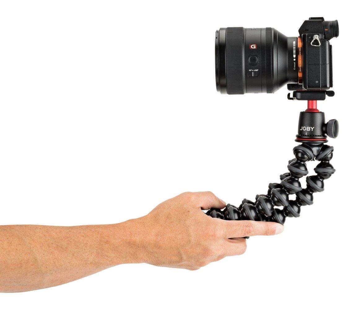 Flexible Professional Aluminium Tripod with BallHead for Premium CSC//Mirrorless Camera Up to 3 kg Payload JOBY JB01566-BWW GorillaPod 3K PRO Kit