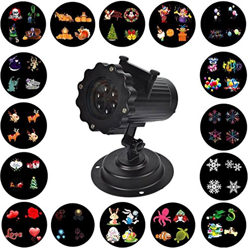 Christmas Projector Lights IP67 Waterproof 10pcs Switchable Patterns 30°Projection Angle 4Pcs LED Colorful For Halloween Christmas Valentine Party (10 pns color)