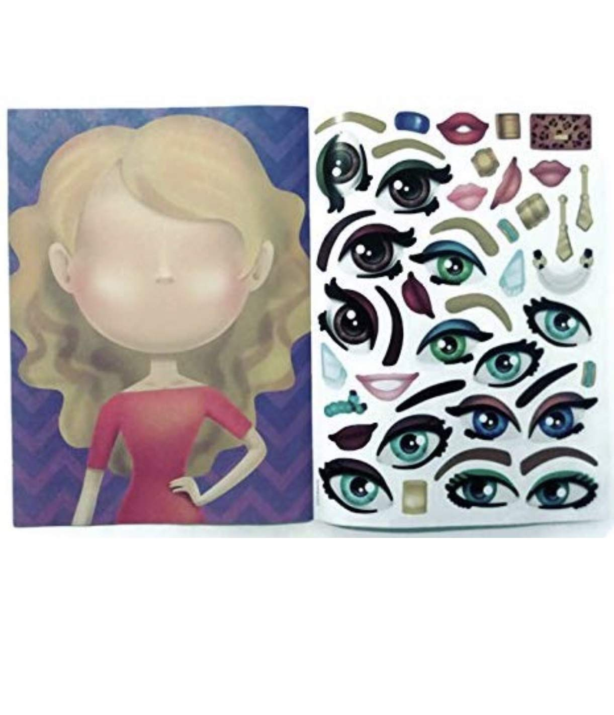 PROSPERITY DEVINE Silly SEA PALS and Fashion Diva Sticker FACE Activity Books for Kids Teens and Adults 2 Books