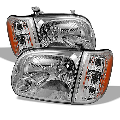 ACANII - For 2005-2006 Toyota Tundra 05-07 Sequoia Double | Crew Cab Headlights Headlamps w/Corner Driver & Passenger