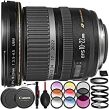 Canon EF-S 10-22mm f/3.5-4.5 USM Lens - 8PC Accessory Bundle Includes 3 Piece Filter Kit (UV, CPL, FLD) + 6 Piece Graduated Color Filter Kit + Dust Blower + Lens Cap Keeper + MORE
