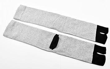 Hombres de Ninja Tabi Calcetines Invierno japonés Split 2 par Toe Sandalias Flip Flop Calcetines Altos