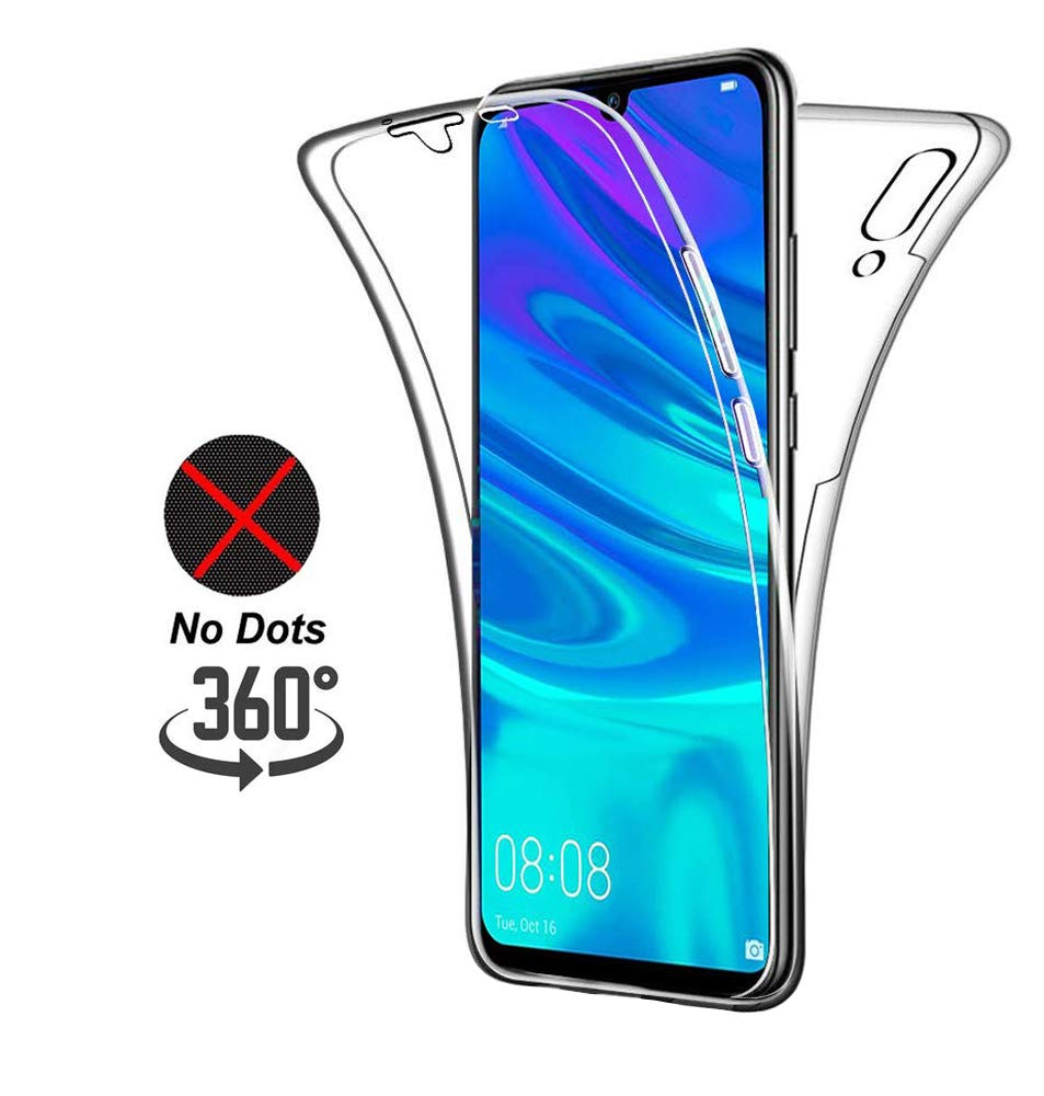 DN-Technology Case For Huawei Y6 2019, 360 Degree Protection Phone Cover, Silicone Crystal Clear Case [2 in 1] [ Front and Back] [ Shockproof ] Case for Huawei Y6 2019 / Y6 Pro