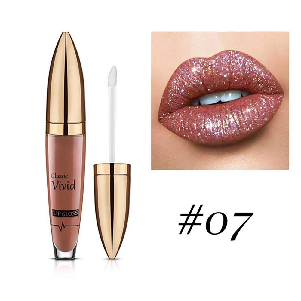 Xiton Pintalabios 1 pieza Metálico Brillante Brillo de labios para mujer de labios de larga duración del maquillaje brillo de labios a prueba de agua ...