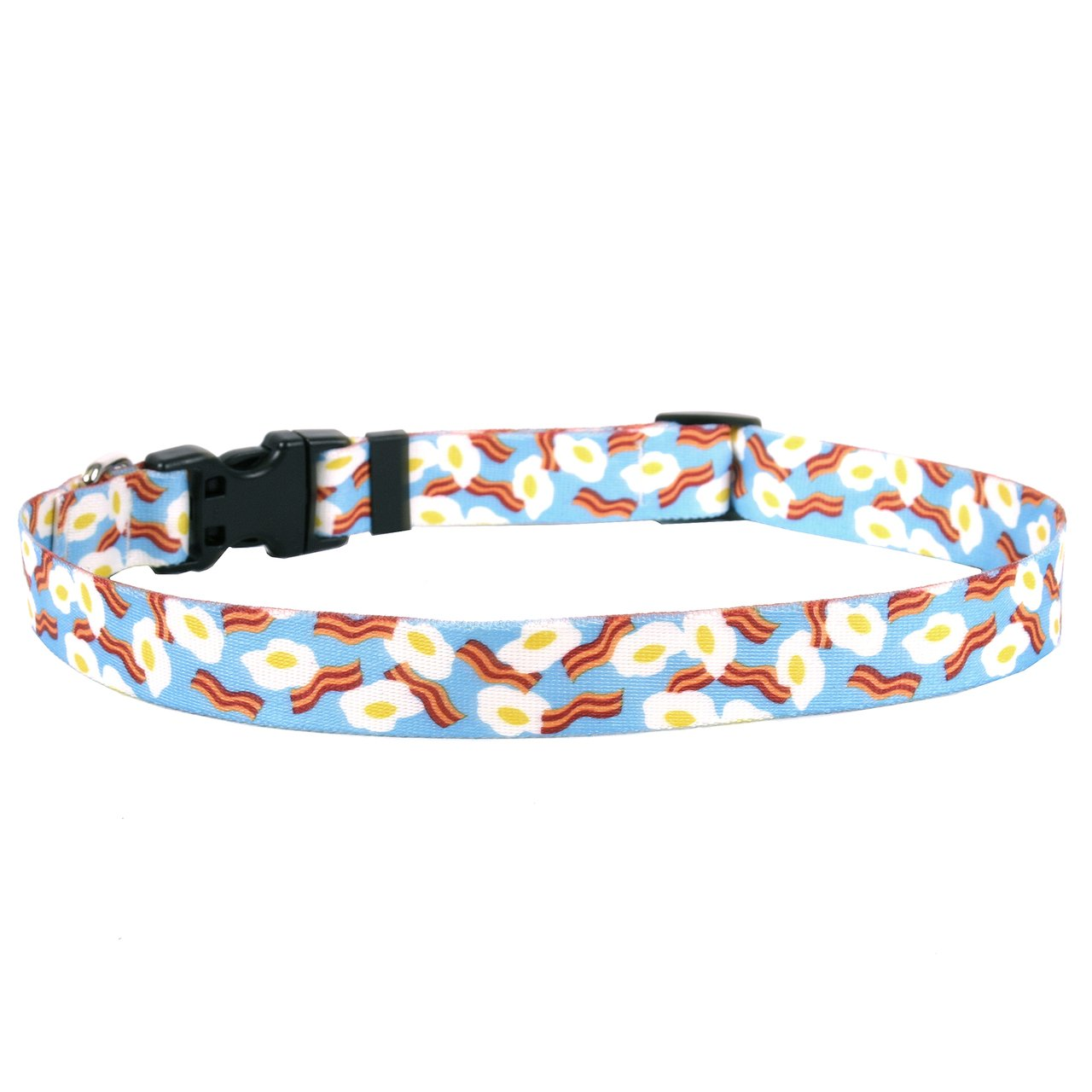 Yellow Dog Design Standard Easy-Snap Pet Collar, Bacon & Eggs, Small 10'' - 14'' by Yellow Dog Design (Image #1)