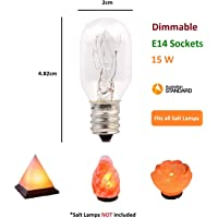 10x Premium Quality Dimmable Salt Lamp Globe Bulb. AU Standard E14 Socket 15w 230V SAA Compliant (10 x Globes)