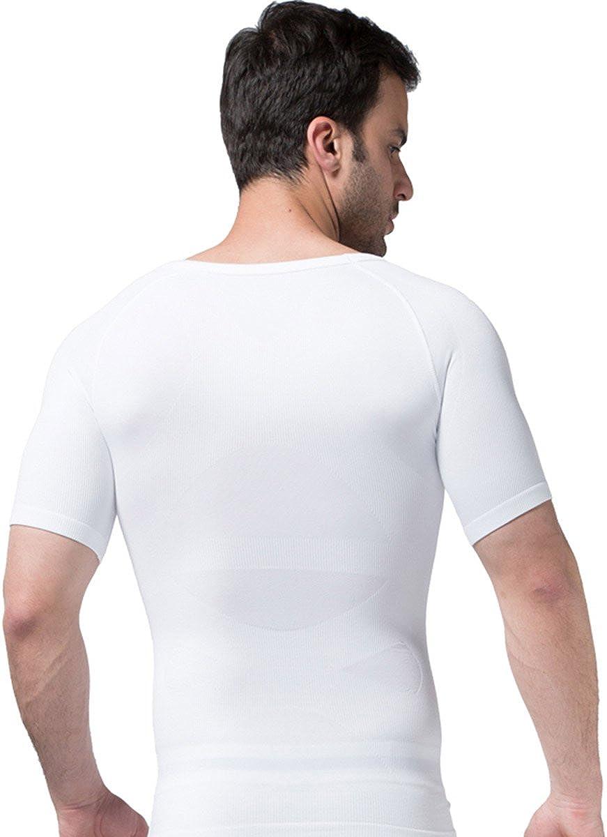FEOYA Camisa de compresión Hombre Que Adelgaza la Talladora del Cuerpo Shapewear Delgado Chaleco de Apoyo Sport Abdomen Back Support Discreto ...