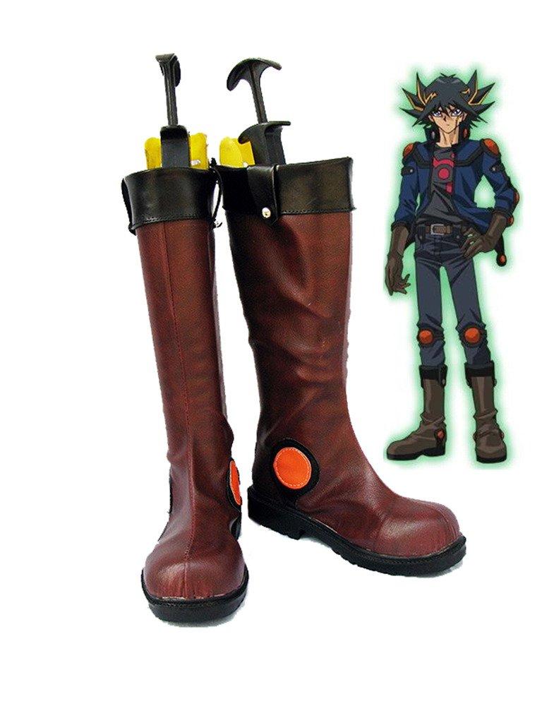 Telacos Yu-Gi-Oh! 5Ds Yusei Fudo Cosplay Shoes Boots Custom Made 6 B(M) US Female