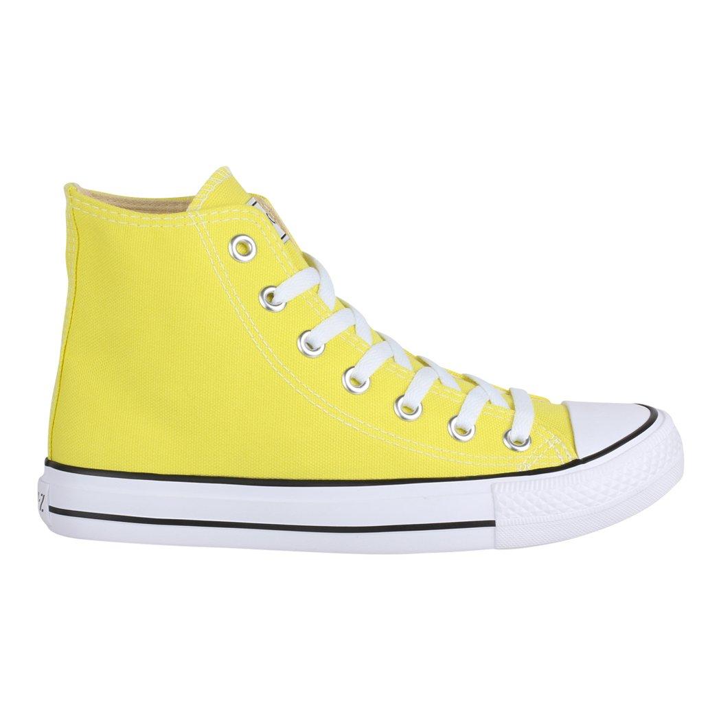 Elara Unisex Sneaker | Sportschuhe für Herren Turnschuh Damen | High Top Turnschuh Herren Textil Schuhe Yellow 11b3d6