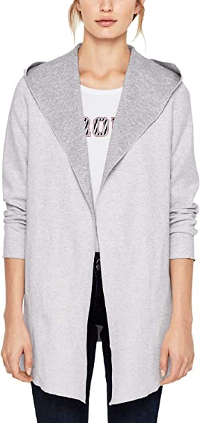 s.Oliver Damen Sweatshirt Jacke mit Kapuze