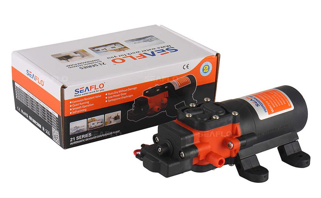 Seaflo Brand New 12V DC 35PSI 1.2GPM 4.5LPM 1.7 Amps Electric Self Priming Diaphragm Pump for Boats RVs Campers Vans