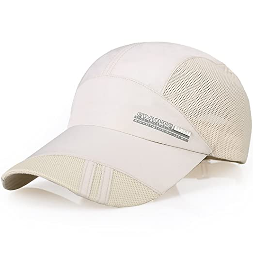 dbdfe955 sdsruioo New UV Quick-Drying Waterproof Baseball Cap Outdoor Lightweight UV  Protection Hats (Beige