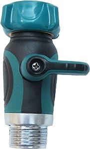 FITOOL Garden Hose Shut Off Valve, Straight Garden Hose Splitter, Heavy Duty Zinc Alloy, Faucet/Hose Connector 3/4-Inch