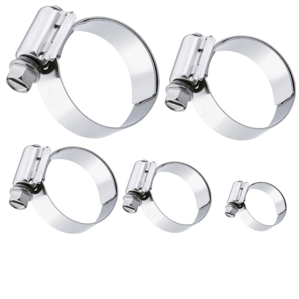 5 pi/èces 20-32 mm AUPROTEC Collier de Serrage /à vis BREEZE en acier inoxydable V2A W4 DIN 3017 choix