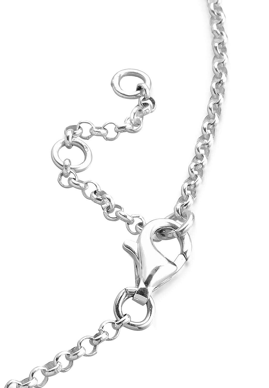 Elli Femme Pr/écieux Bijoux Bracelets de Cheville Chaine de Cheville C/œur /Éternel Amour Amiti/é D/émonstration de Amour Argent 925 Longueur 25 cm